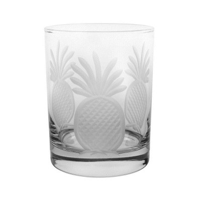 Pineapple Double Old Fashioned Glass Set of 4 | Rolf Glass | ROL205007