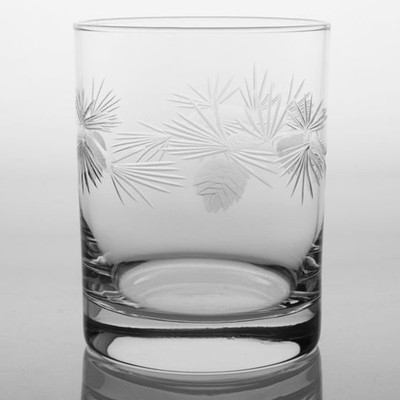 Icy Pine Double Old Fashioned Glass Set of 4