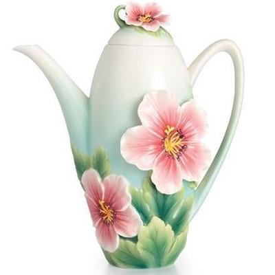 Geranium Garden Porcelain Teapot | FZ02371