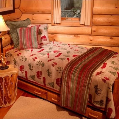 Moose Camp King Bedspread