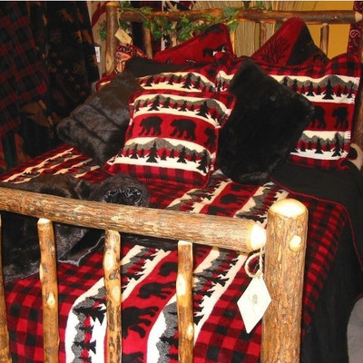 Bear Plaid King Bedspread