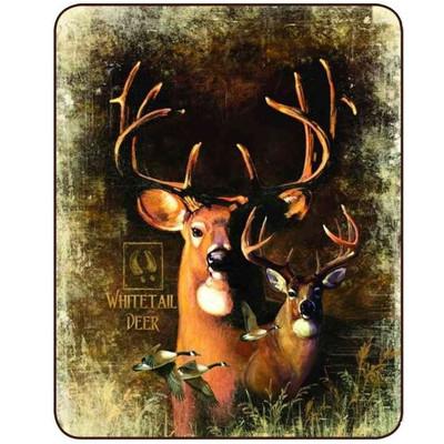 Shadow Beasts Deer Faux-Mink Blanket