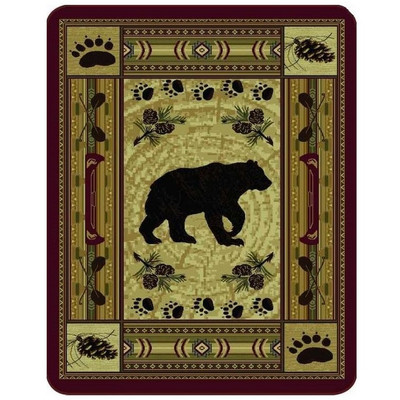 Bear Blanket Native Bear Patchwork