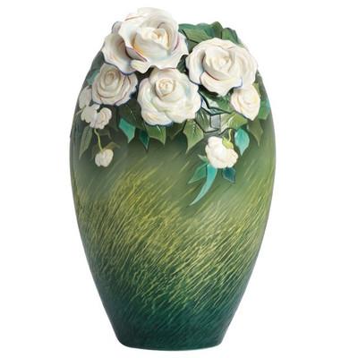 Van Gogh White Roses Porcelain Vase | FZ02407