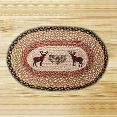 Deer Oval Braided Rug