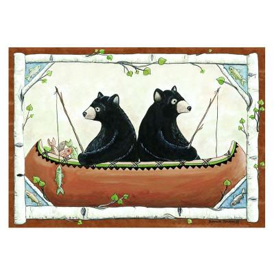 Bears in Canoe Area Rug
