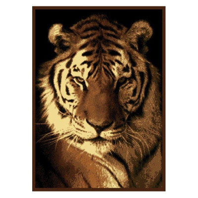 Tiger Portrait Area Rug