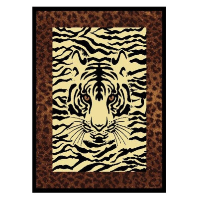 Tiger Area Rug Hidden Eyes Area Rug