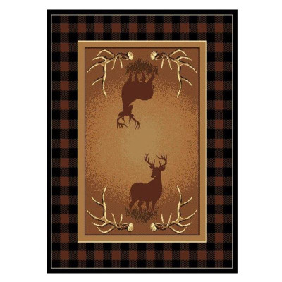 Deer Area Rug Antler Buck