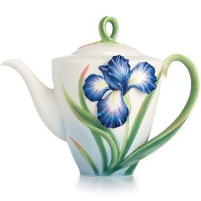Eloquent Iris Porcelain Teapot | FZ02479