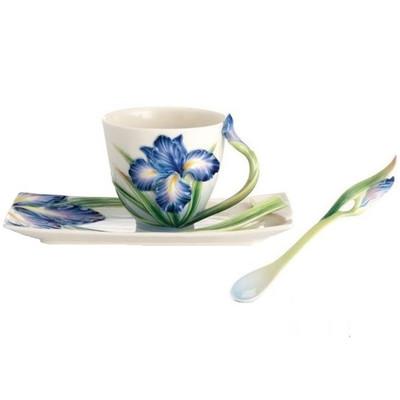Eloquent Iris Cup Saucer Spoon | FZ02480