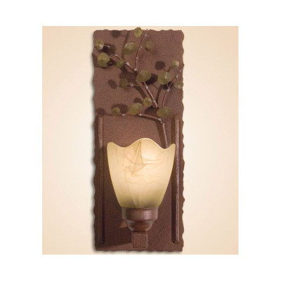 Aspen Leaves Wall Lamp with Glass Shade