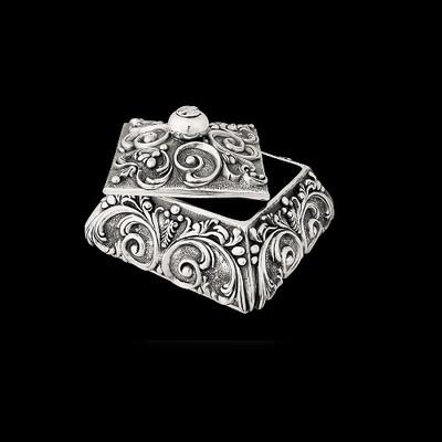 Silver Plated Jewelry Box | U301
