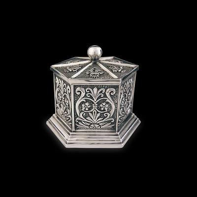 Silver Plated Tall Jewelry Box | U303