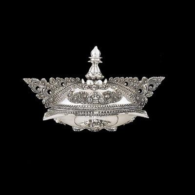 Silver Plated Ornate Jewelry Box | U304