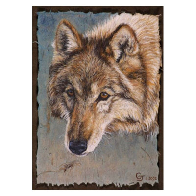 """Wolf Print """"A Wolf Named Red"""""""