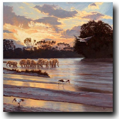 "Elephant Print ""Samburu Sunset"""