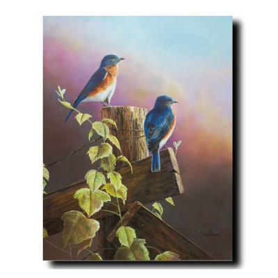"""Bluebirds Print  """"A Touch of Spring"""""""