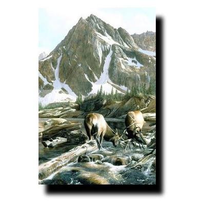 """Elk Print """"Mountain Challenge"""""""