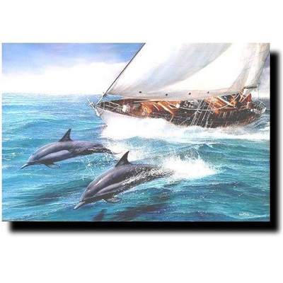 """Dolphin Print """"Sailing the Wind"""""""