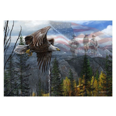 """Eagle Print """"May Freedom Forever Fly II"""""""