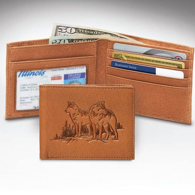 Wolf Bifold Tan Wallet