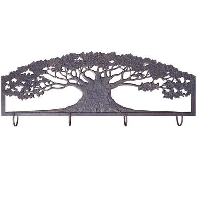 Tree Metal Wall Art Coat Rack