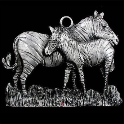Zebra Pewter Ornament