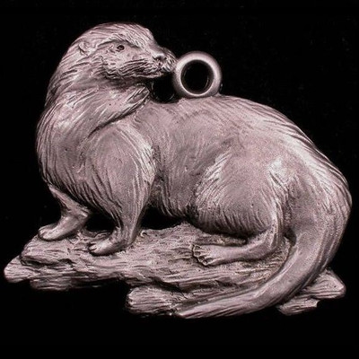 Otter Pewter Ornament