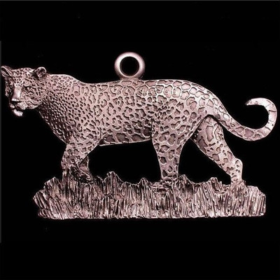 Leopard Pewter Ornament