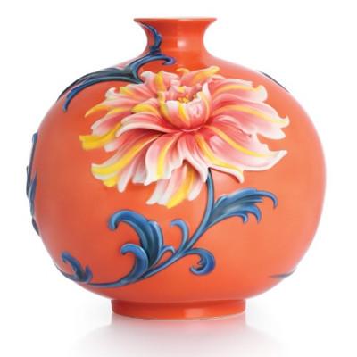 Exotic Peony Porcelain Vase | FZ02753
