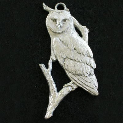 Owl Pewter Ornament