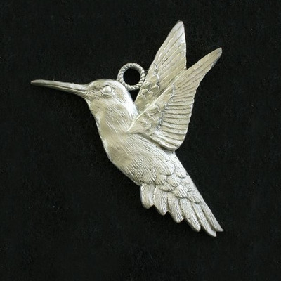 Hummingbird Pewter Ornament
