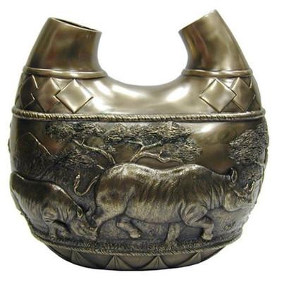 Rhino Safari Double Vase