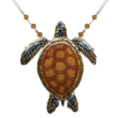 Green Sea Turtle Large Necklace | Nature Jewelry