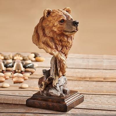 """Bear Sculpture """"Silvertip"""""""