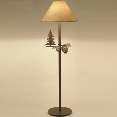 Pine Tree & Pinecone Floor Lamp