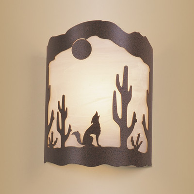 Coyote & Cactus Wall Sconce