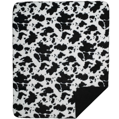 Cowhide Microplush Throw Blanket