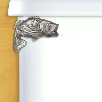 Largemouth Bass Pewter Toilet Flush Handle