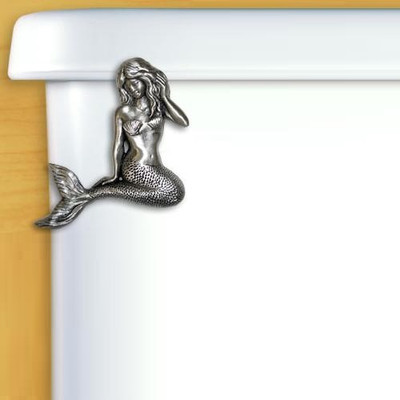 Mermaid Pewter Toilet Flush Handle