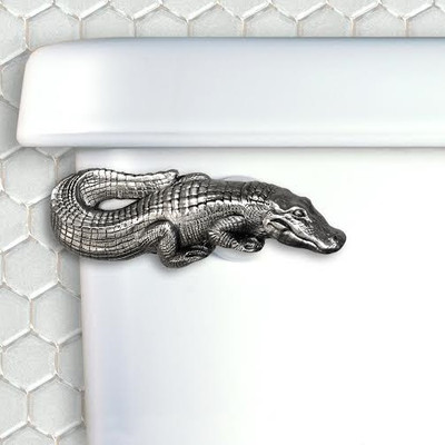 Alligator Pewter Toilet Handle