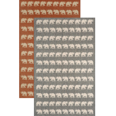 Elephant 5' x 8' Indoor Outdoor Area Rug