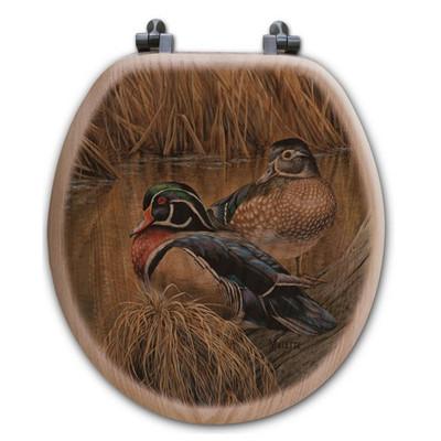 Wood Duck Toilet Seat