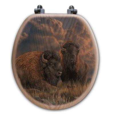 """Buffalo Toilet Seat """"Distant Thunder"""""""