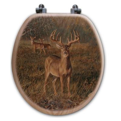 """Deer Toilet Seat """"First Light"""""""