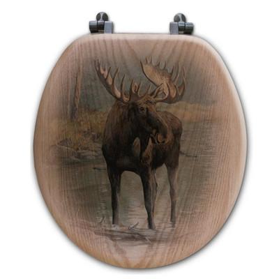 """Moose Toilet Seat """"Quiet Water"""""""