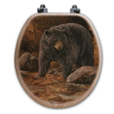 """Bear Toilet Seat """"at the Stream"""""""