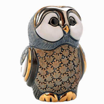 Blue Tawny Owl Baby Figurine | Rinconada