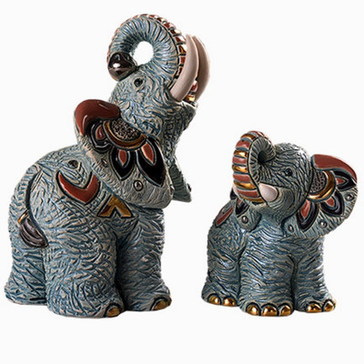 Samburu Elephant and Baby Figurine Set   Rinconada